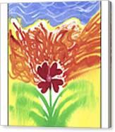 flower on Fire Canvas Print