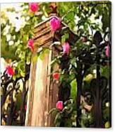 Flower Post Canvas Print