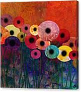Flower Power Five Abstract Art Canvas Print