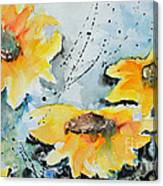 Flower Power- Floral Painting Canvas Print