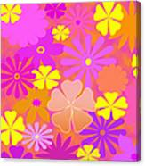 Flower Power Pastels Design Canvas Print