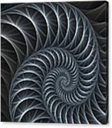 Flower Spiral Canvas Print