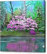 Flower Tree Reflections Canvas Print