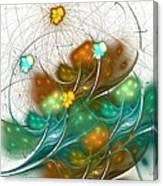 Flower Wind Canvas Print