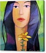 Flower Woman Canvas Print