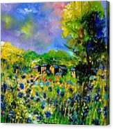Flowered Village Canvas Print