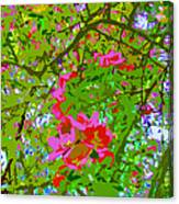 Flowering Blossoms Tree Paint Style Canvas Print