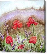 Flowering Field Canvas Print