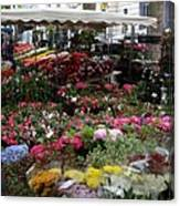 Flowermarket - Tours Canvas Print