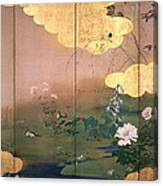Flowers And Birds Of The Four Seasons Canvas Print