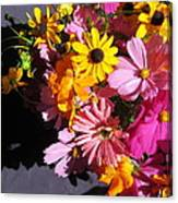 Flowers And Shadow Canvas Print
