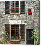 Flowers And Windows Canvas Print
