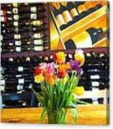 Flowers And Wine Canvas Print