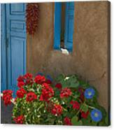Flowers At Ranchos De Taos Canvas Print