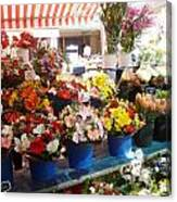 Flowers At The Market Canvas Print