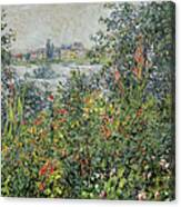 Flowers At Vetheuil Canvas Print