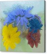 Flowers Behind Glass Canvas Print