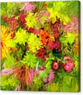 Flowers By The Brush Canvas Print