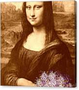 Flowers For Mona Lisa Canvas Print