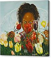 Flowers For You Mama Canvas Print