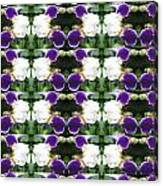 Flowers From Cherryhill Nj America White  Purple Combination Graphically Enhanced Innovative Pattern Canvas Print