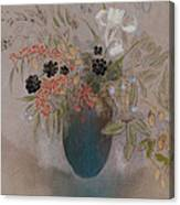 Flowers In A Vase Canvas Print