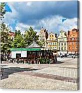 Flowers In Salt Square - Wroclaw Poland Canvas Print