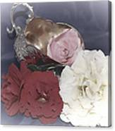 Flowers In Silver Canvas Print