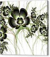 Flowers In The Antique Look Canvas Print