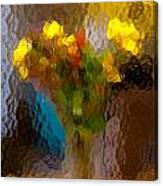Flowers In Vase - Still Life Canvas Print