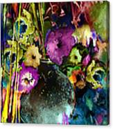 Flowers Night Party Canvas Print
