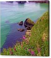 Flowers On The Coast Canvas Print