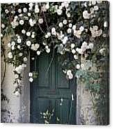 Flowers On The Door Canvas Print