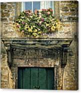 Flowers Over Doorway Canvas Print