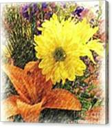 Flowers With Love Canvas Print