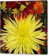 Flowers Yellow Canvas Print