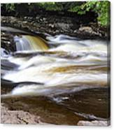 Flowing And Cascading At The Falls Of Dochart - Killin Scotland Canvas Print