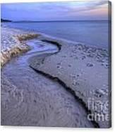 Flowing Into Lake Michigan Canvas Print