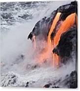 Flowing Pahoehoe Lava Canvas Print