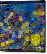 Flowing River Water And Rocks Colorful Abstract Painting Canvas Print