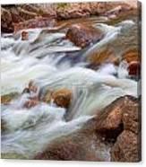 Flowing St Vrian Creek   Canvas Print