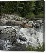 Flowing Stream With Waterfall In Vermont Canvas Print