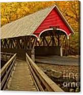 Flume Gorge Covered Bridge Canvas Print