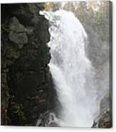 Flume Gorge Waterfall In Autumn Canvas Print
