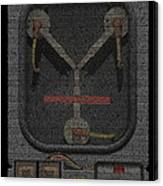 Flux Capacitor Mosaic Canvas Print