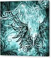 Fly Away Gothic Aqua Canvas Print