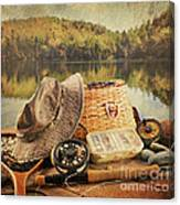Fly Fishing Equipment  With Vintage Look Canvas Print