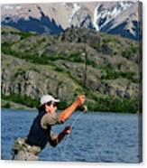 Fly Fishing In Patagonia Canvas Print