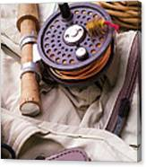 Fly Fishing Still Life Canvas Print
