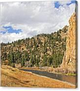 Fly Fishing The Big Hole River Montana Canvas Print